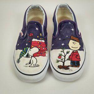 Vans 5 Charlie Brown Peanuts Christmas Slip-on